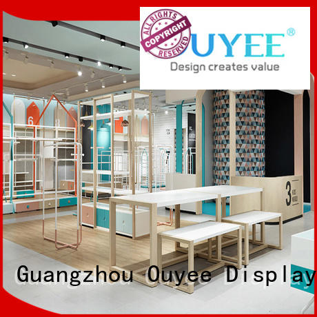 OUYEE popular garment shop interior design ideas cheapest price for ladies clothing