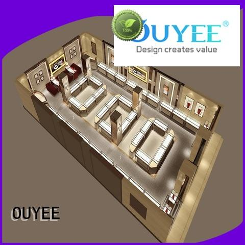 jewellery shop showcase design cabinet shop jewellery shop design OUYEE Brand