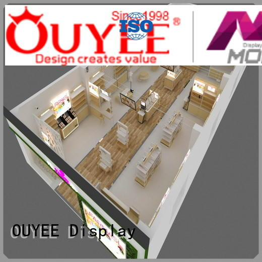 interior display newest counter OUYEE Brand cosmetic shop supplier