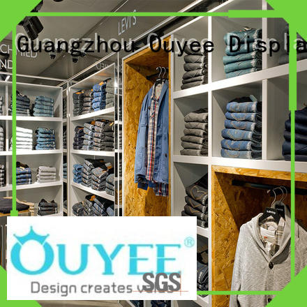 boutique clothing display racks ideas stand OUYEE Brand clothing shelves