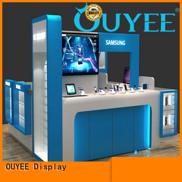 OUYEE cell phone display counter plywood