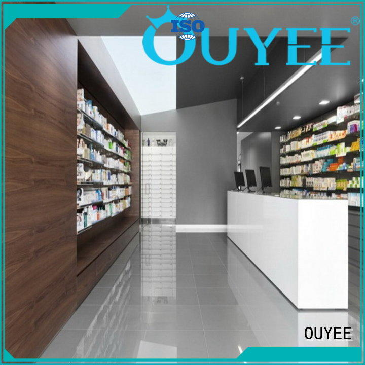 display drugstore furniture pharmacy counter sale OUYEE Brand