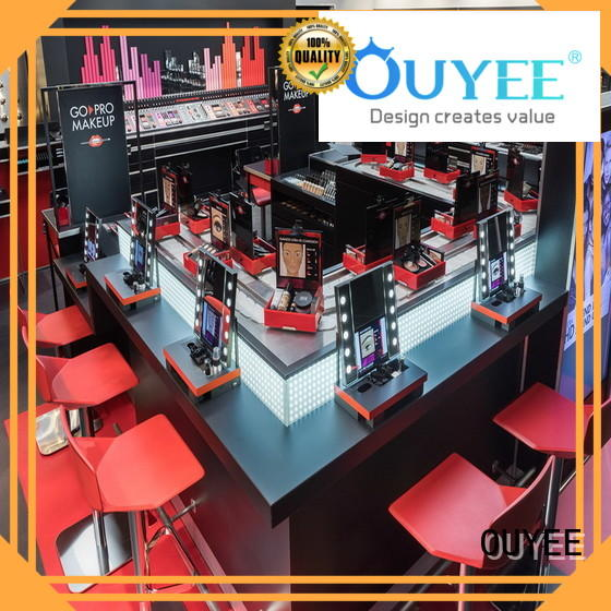 OUYEE low cost makeup furniture with lights beauty for wholesale