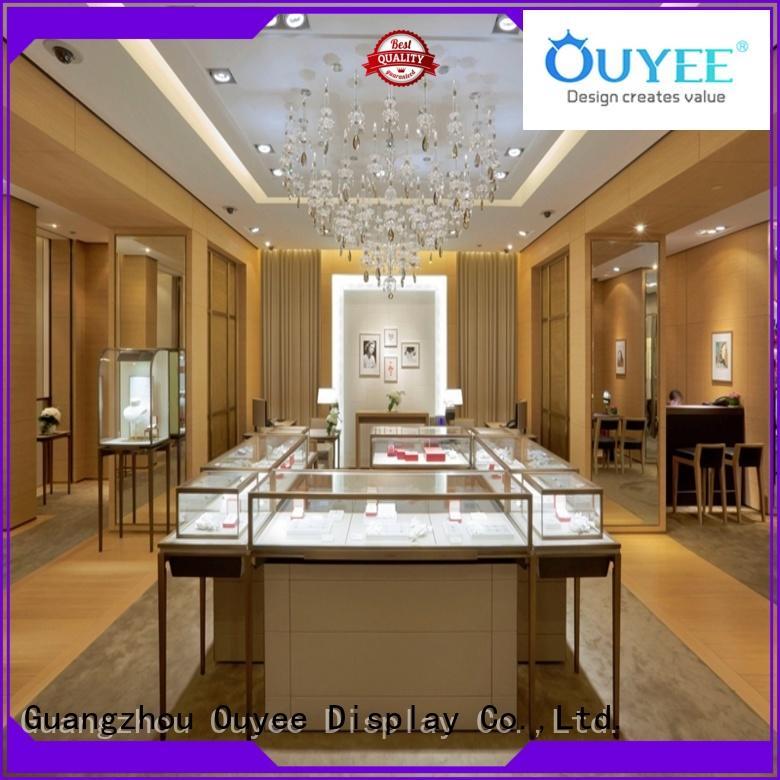 Wholesale large jewellery shop showcase design showcase OUYEE Brand