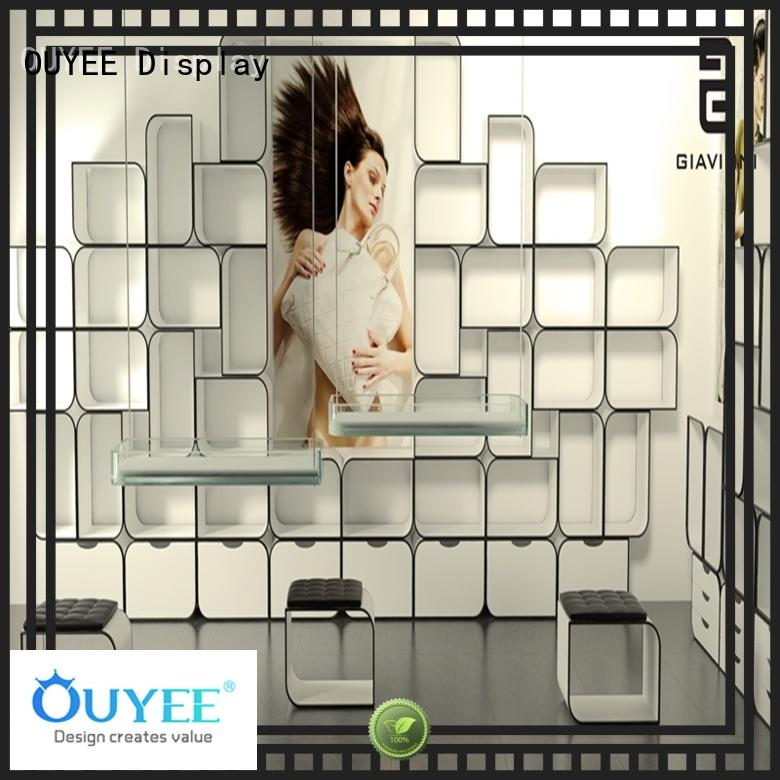 durable shoe display wall chic commercial for chain shop