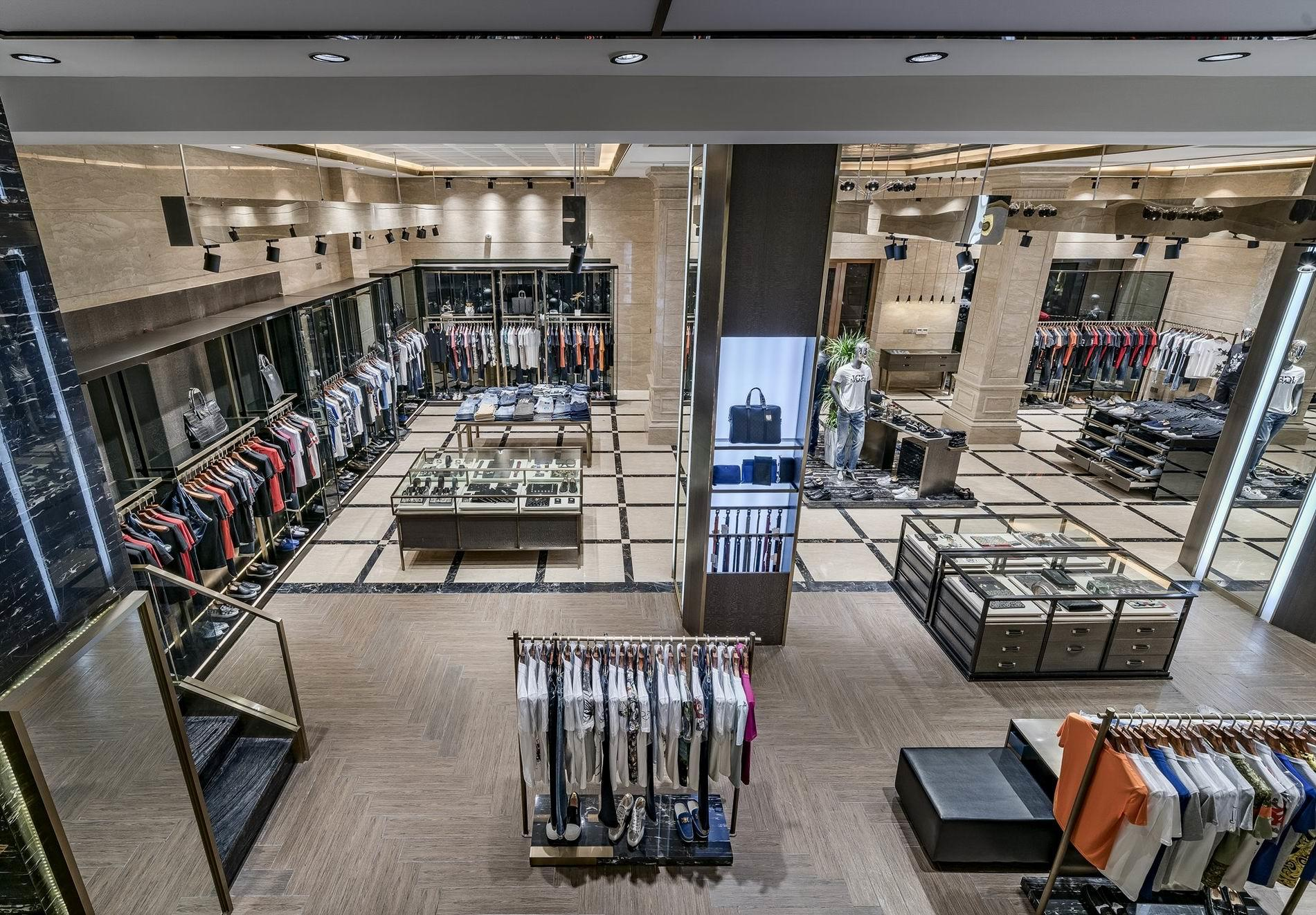 OUYEE free delivery tailoring shop interior design at discount underwear display-3