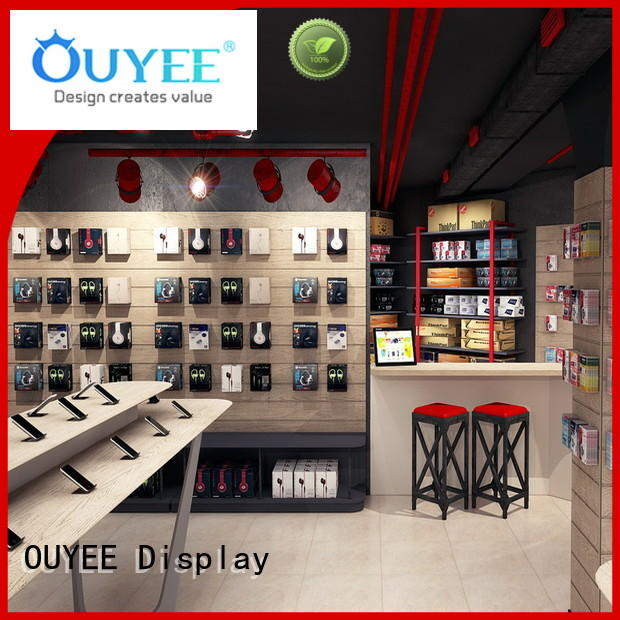 showcase mobile phone display showcase wooden OUYEE