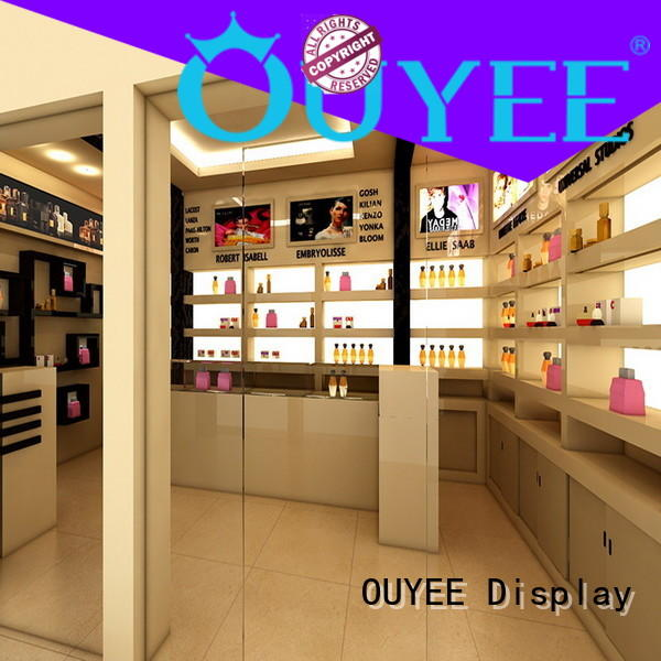 OUYEE hot-sale perfume wall shelf custom for store