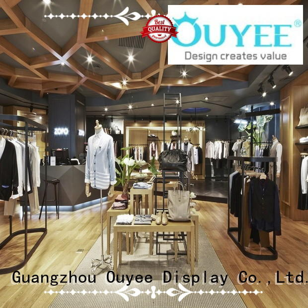 Quality OUYEE Brand boutique clothing display racks baby shop