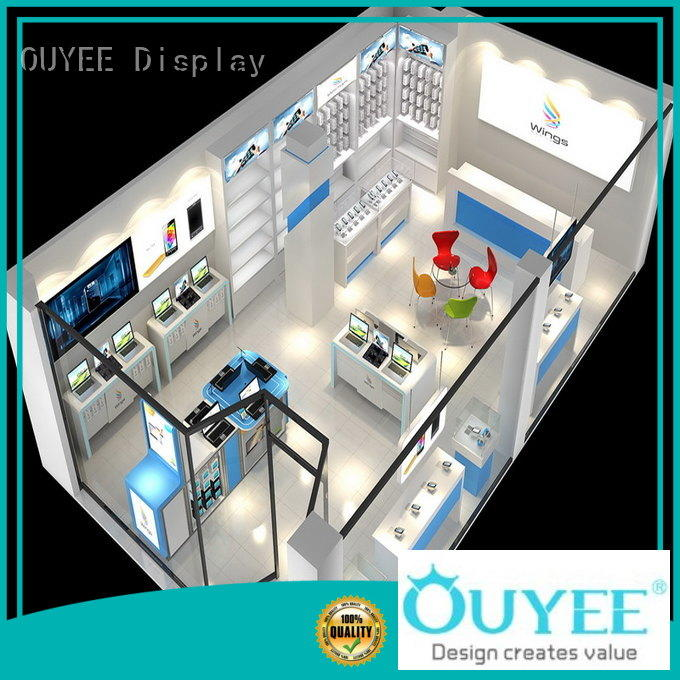 phone shop design wooden for electronics OUYEE