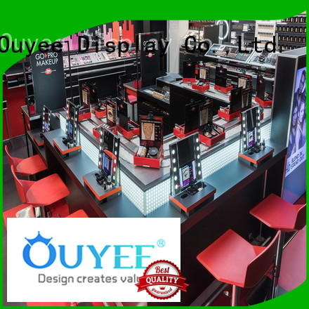 makeup retail display furnitures design cosmetic shop OUYEE Brand
