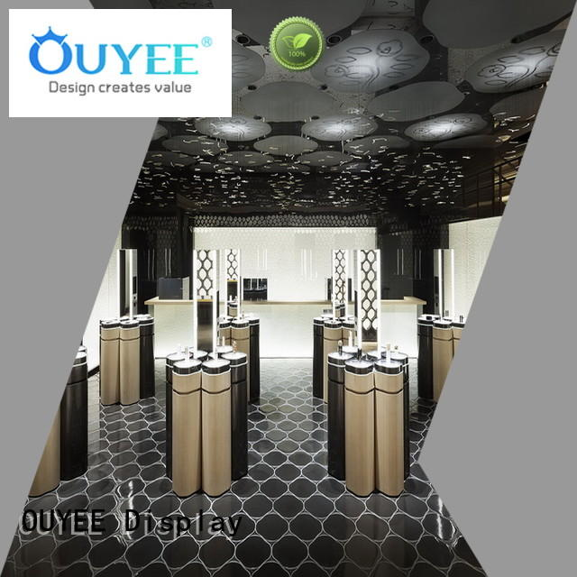 cosmetic display showcase newest for wholesale OUYEE