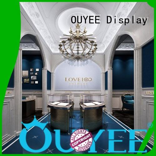 jewellery shop showcase design showcase design store Warranty OUYEE