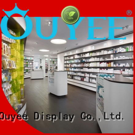 OUYEE Brand medicine decoration designs pharmacy counter manufacture