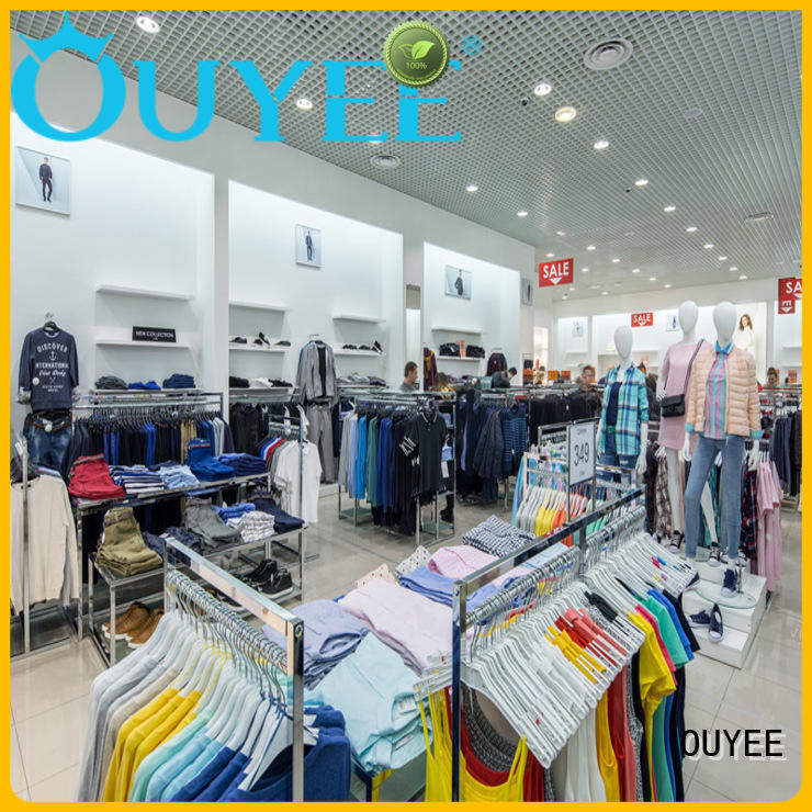 rack highend fixtures boutique clothing display racks OUYEE Brand