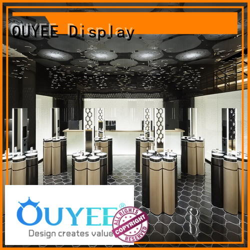 OUYEE Brand newest decoration vanity makeup retail display kiosk