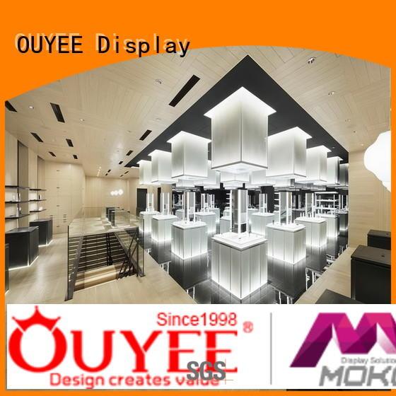 makeup counter makeup retail display OUYEE manufacture