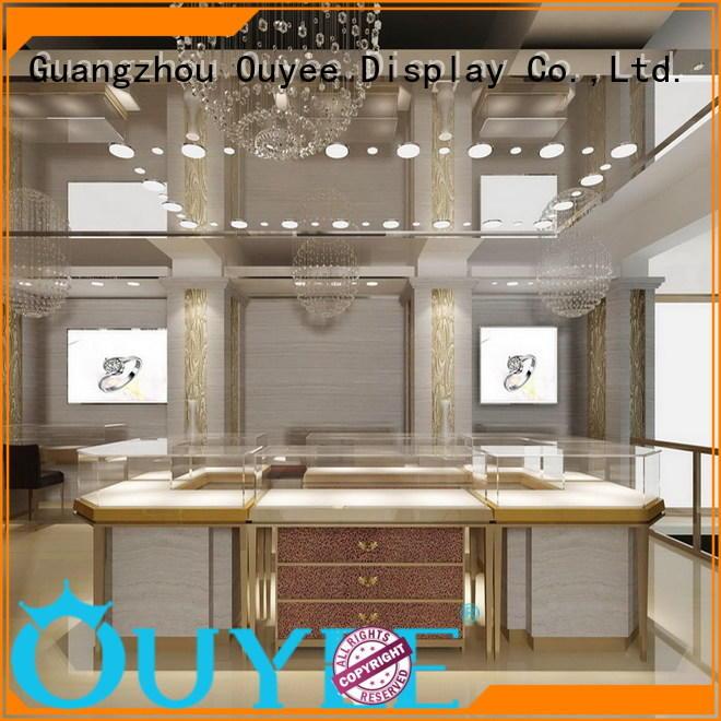 OUYEE Brand store sale jewellery shop design wall factory