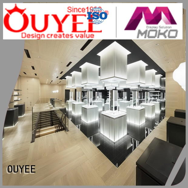 OUYEE newest cosmetic display cases at discount for decoration