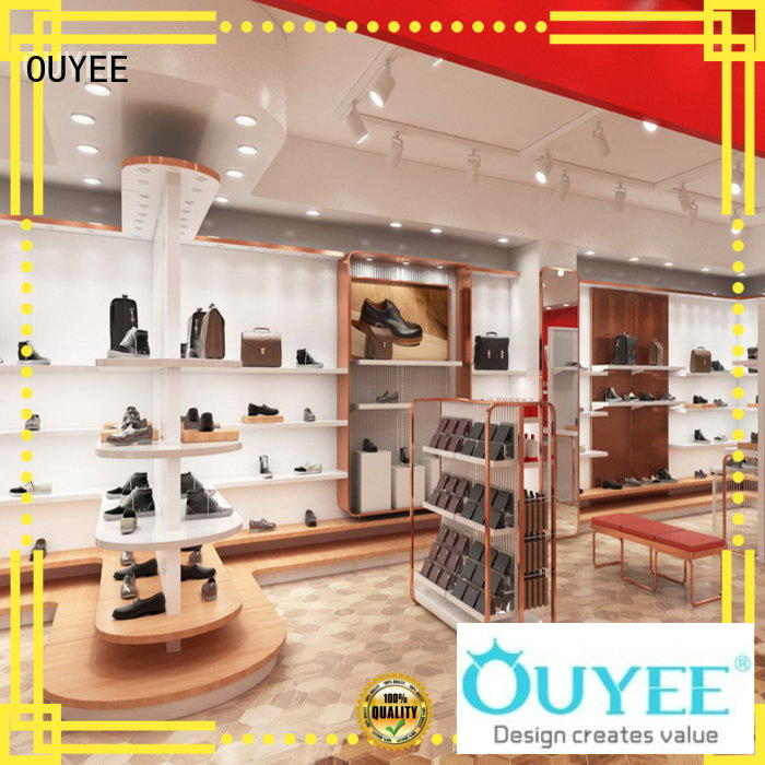 OUYEE high-quality shoe display rack popular for chain shop
