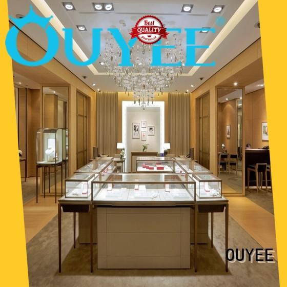 OUYEE high quality jewellery counter design custom for shop