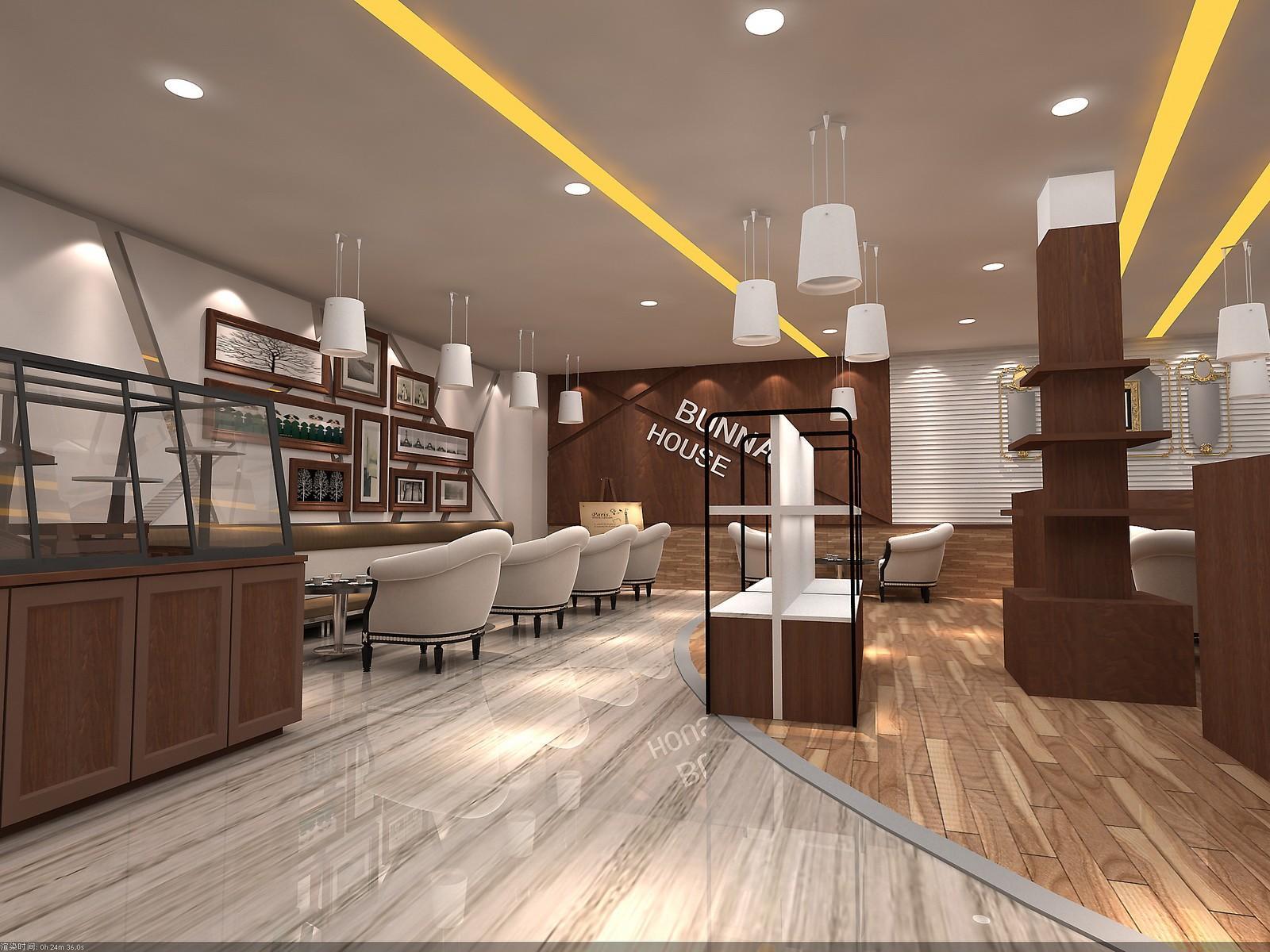 eye-catching coffee bar design modernbulk production for club-2