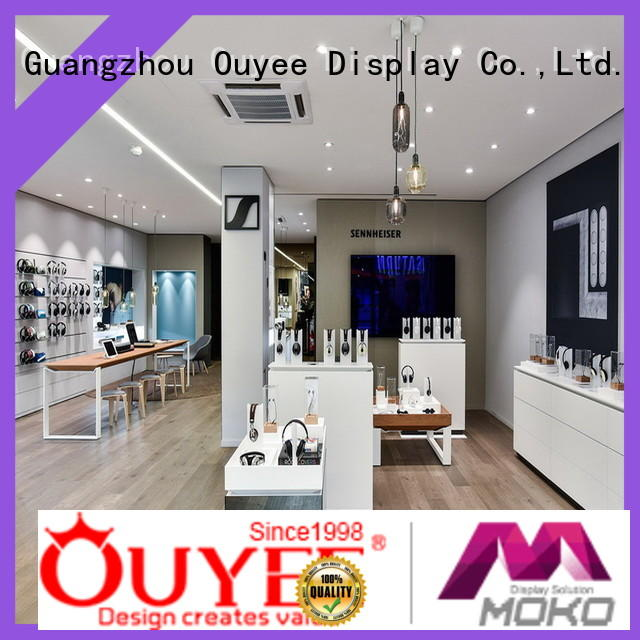 OUYEE hot-sale mobile display showcase plywood