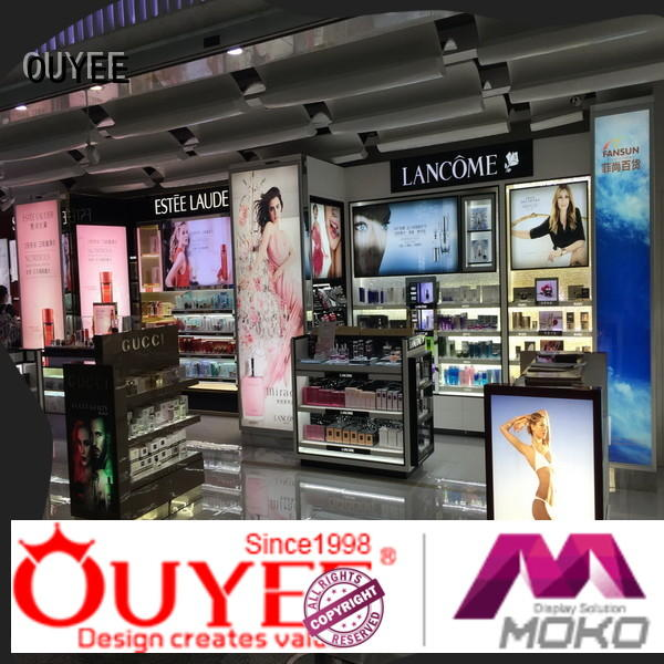 OUYEE one-stop makeup store display at discount for decoration