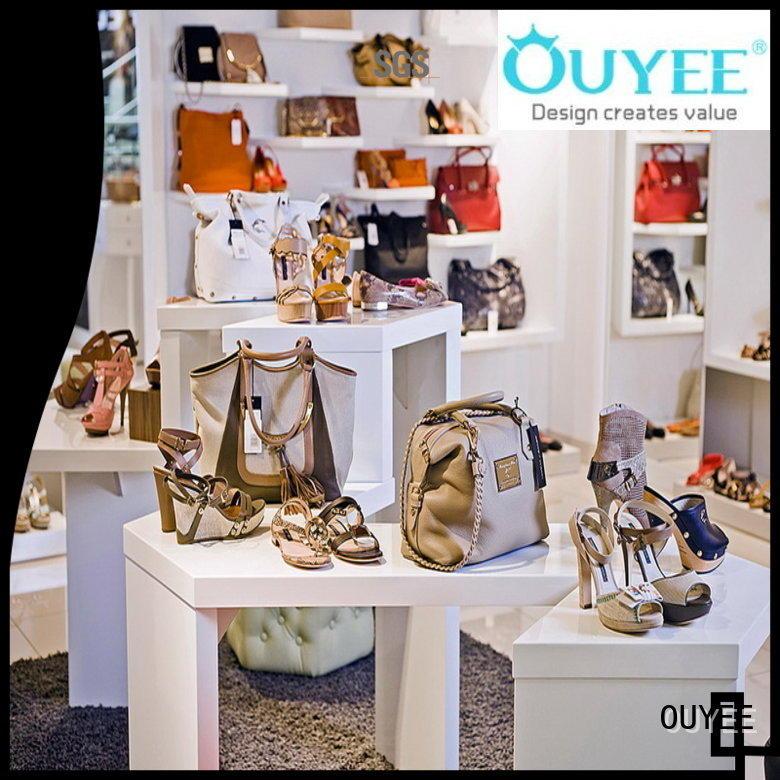 handbag shelves showcase wooden shoe rack designs OUYEE