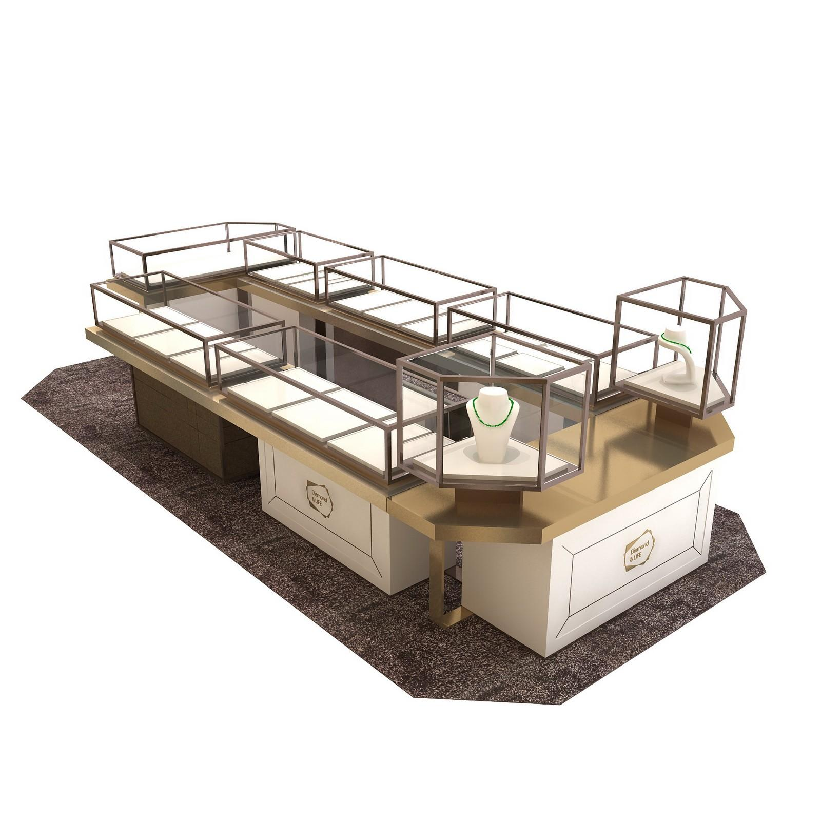 retail jewellery display cabinets commercial for store OUYEE-1