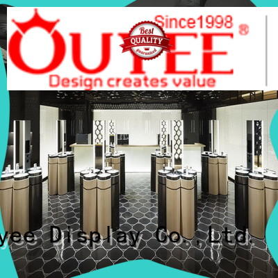 OUYEE beauty wooden showcase design high-end for wholesale