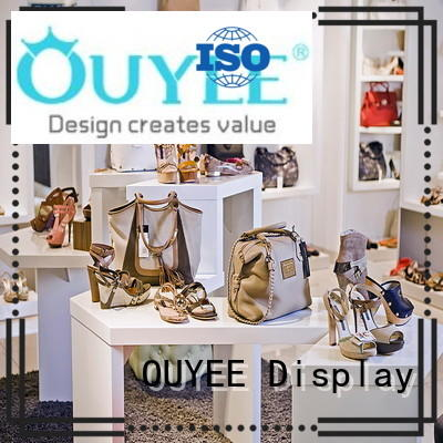 OUYEE one-stop shoe display stand eye-catching for business