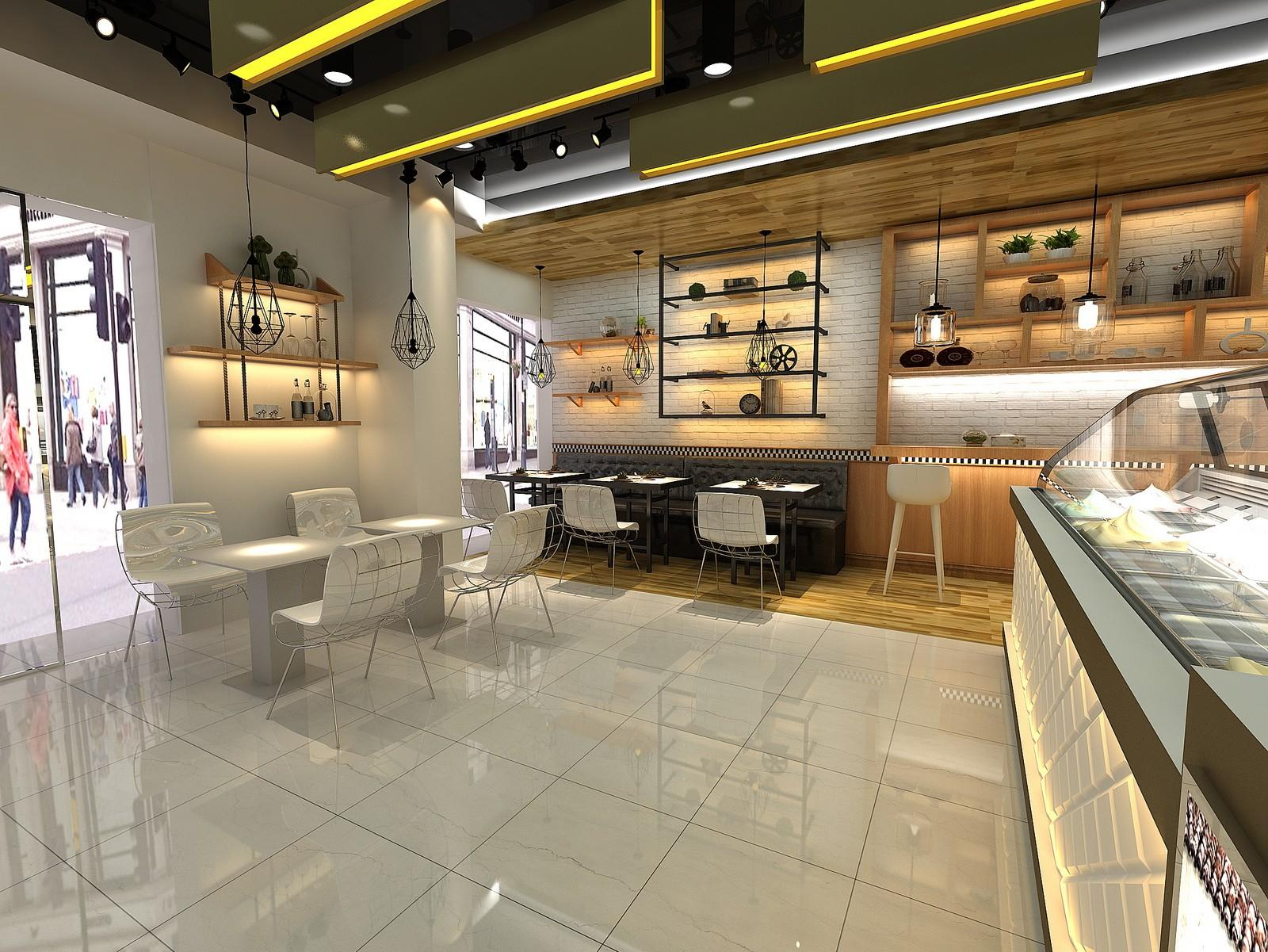 OUYEE eye-catching small cafe design cheapest price for furniture-1