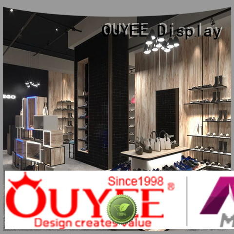 Wholesale fixture design wooden shoe rack designs OUYEE Brand