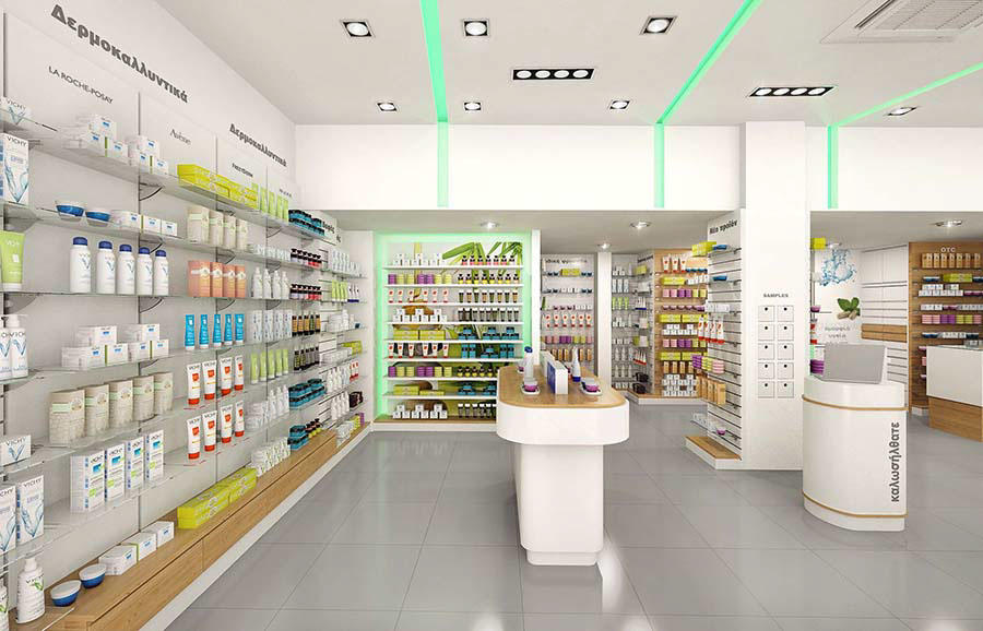 newest pharmacy shelving design fast installation for hospital OUYEE-3