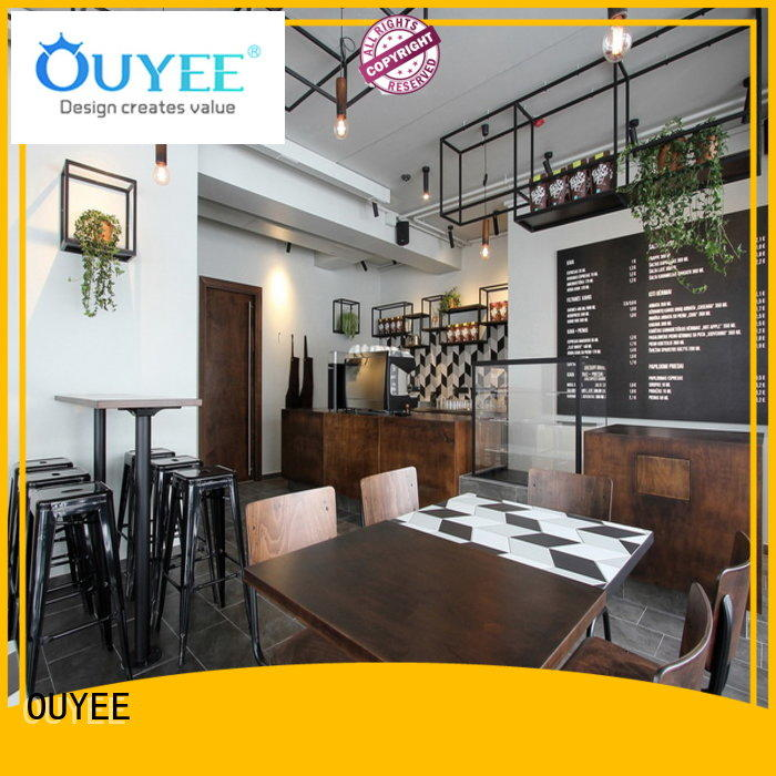 OUYEE modern coffee shop decor ideas bulk production for furniture