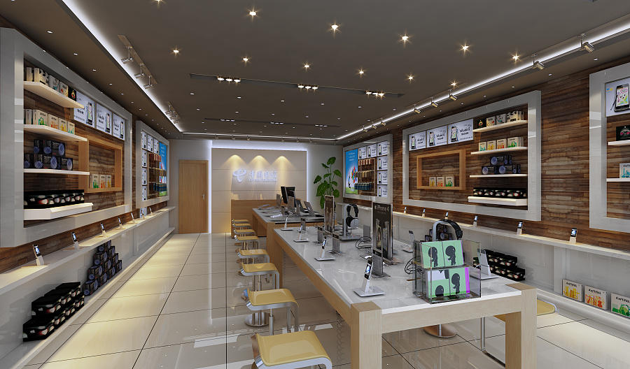 showcase electronic shop interior design fast installation for electronics OUYEE-3