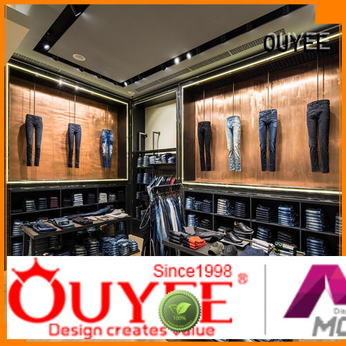 OUYEE Brand retail boutique clothing display racks clothing supplier