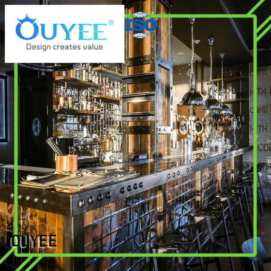 OUYEE best design cafe interior design ideas at discount for club