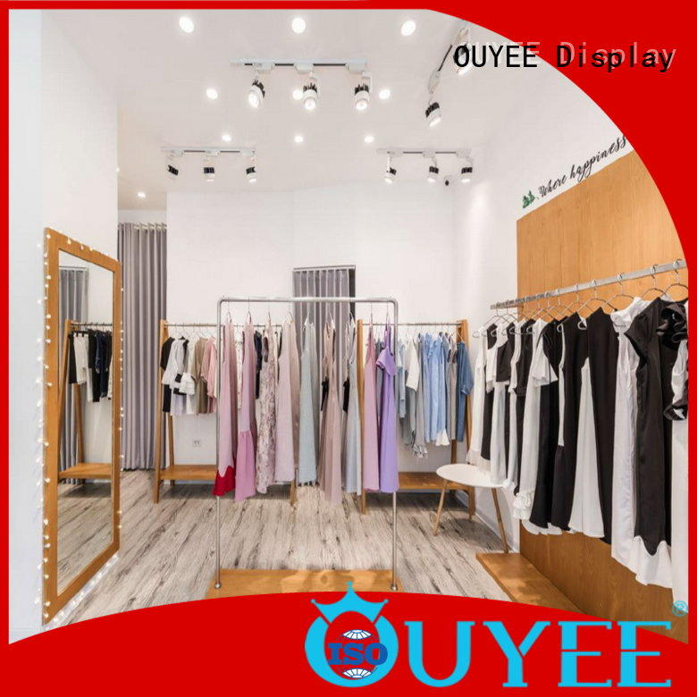 OUYEE top brand round clothes rack cheapest price for show room