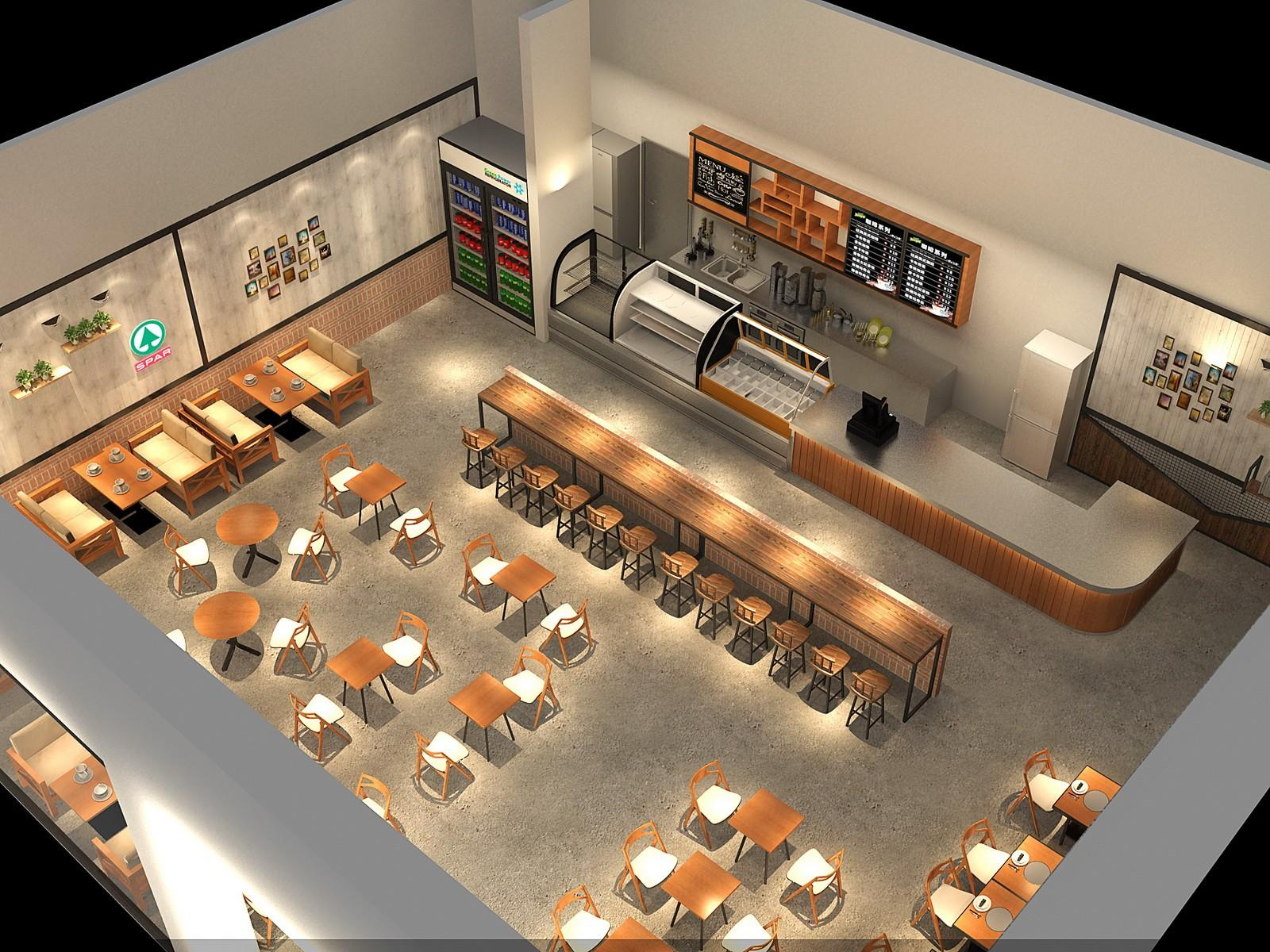 OUYEE cafe shop interior design on-sale for club-3
