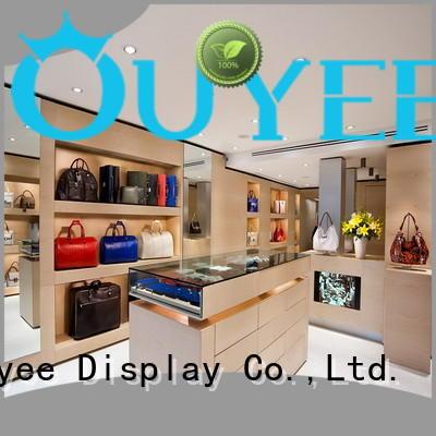 OUYEE Brand shoes wooden shoe rack designs fixture factory