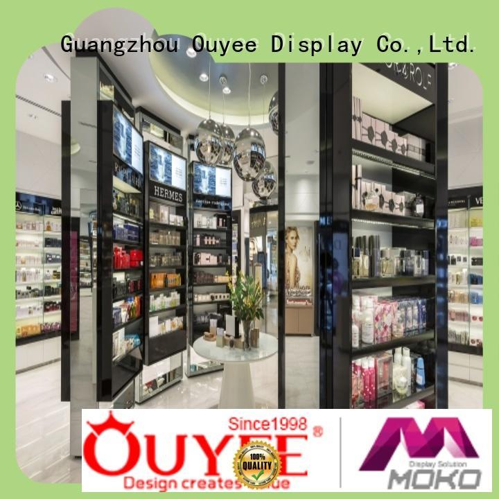 perfume display showcase custom for store OUYEE