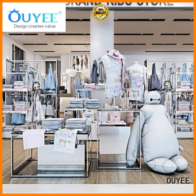 OUYEE high-end clothing store design ideas cheapest price for ladies clothing