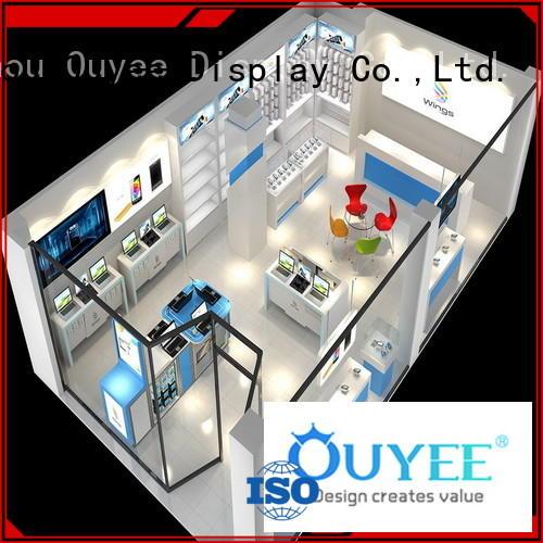 phone repair kiosk interior electronic shop display design company