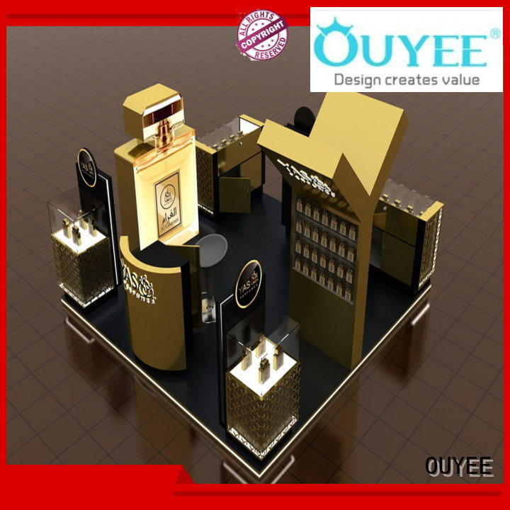 shopping rack parfume table OUYEE Brand perfume stand supplier