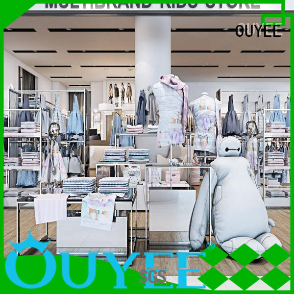 interior racks cabinet garments OUYEE Brand clothing shelves supplier