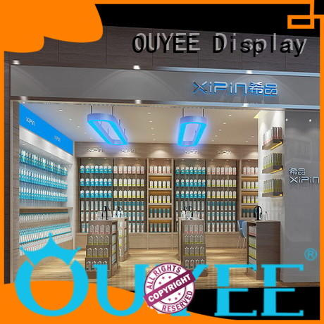 Custom decoration showcase electronic shop display OUYEE displays