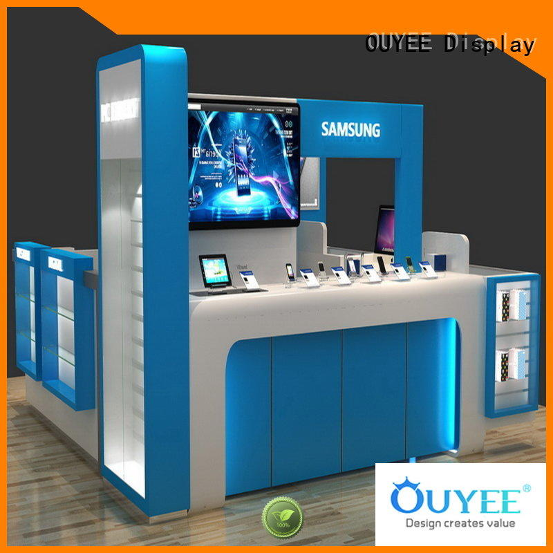 OUYEE hot-sale phone store display wooden for electronics