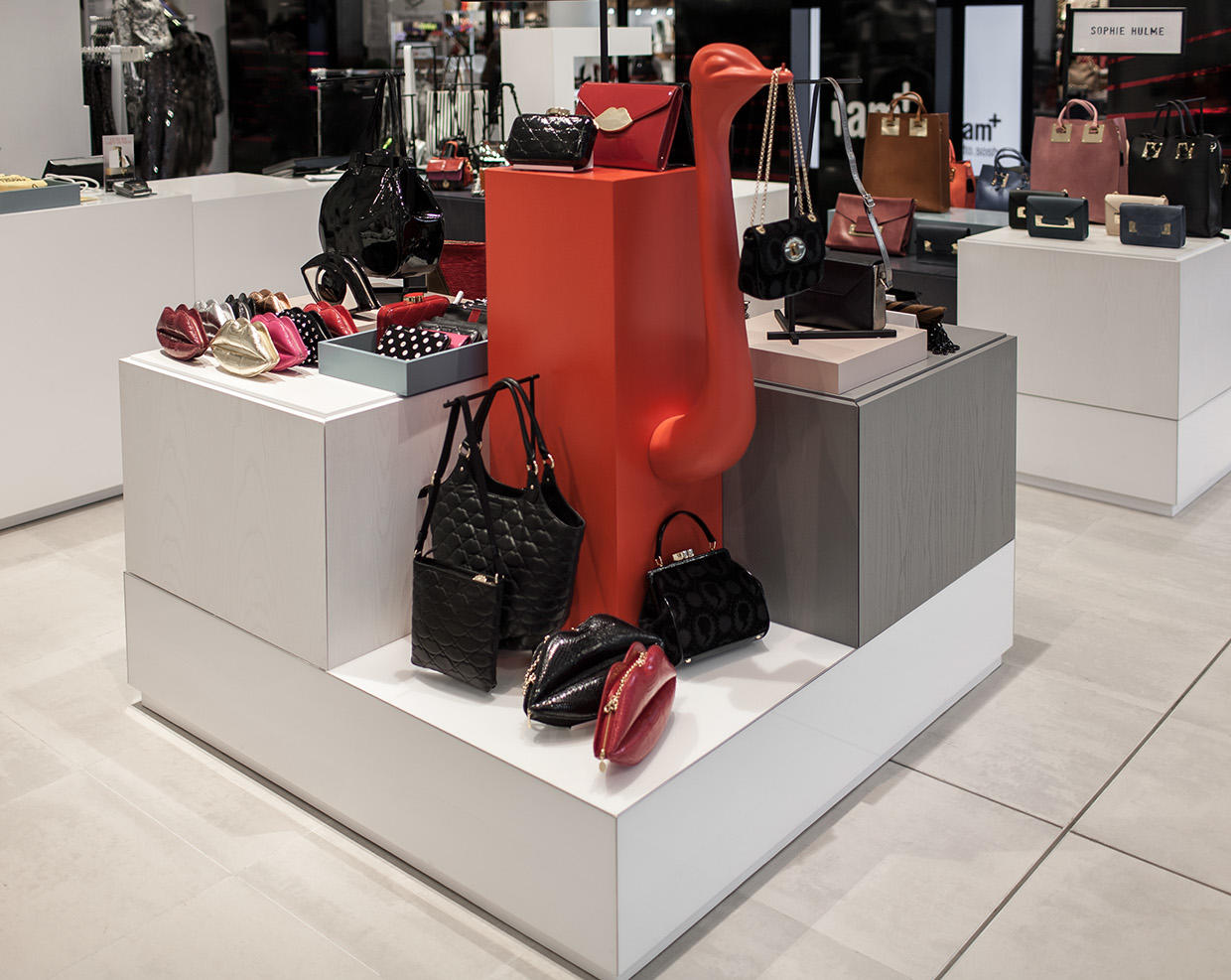 handbag display stand funky at discount for business-1